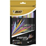 Image of Bic Intensity Fine Writing Felt Pen 20 Assorted Bright Colours Ref 942097 [Pack 20]