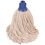 Robert Scott & Sons Smooth Surface Mop Head / Socket / PY Yarn / 16oz / Blue / Pack of 10