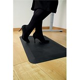 Image of Coba Orthomat Office Standing Desk Mat Anti-slip Bevelled Edge W800xD500xH16mm Black Ref OO010001