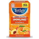 Image of Tetley Super Fruits Tea / Immune / Peach & Orange / Vitamin C / Pack of 20