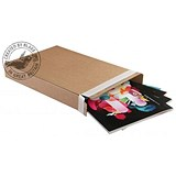 Image of Blakes Slimline Postal Box / Peel & Seal / W240 x D165 x H46mm / Kraft / Pack of 25