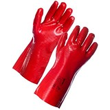 Image of Supertouch Industrial PVC Gauntlets / Abrasion-resistant / Red