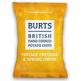 Burts Cheddar & Spring Onion Crisps / 40g Bags / Pack of 20