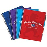 Image of Oxford Campus Project Book / Twinwire / 200 Pages / A4 / Assorted/ Pack of 5