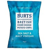 Burts Sea Salt & Malt Vinegar Crisps / 40g Bags / Pack of 20