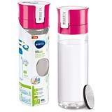 Brita Fill & Go Vital Filtering Water Bottle / Pull-out Mouthpiece / Flip-top Lid / 600ml / Pink