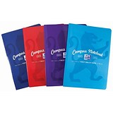 Image of Oxford Campus Notebook / A4 / Soft Cover / Casebound Assorted / Pack of 5