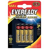 Image of Eveready Gold Alkaline Batteries AAA/LR03 Ref 636034 [Pack 4]