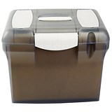 Image of File Box with Suspension Files and Index Tabs Plastic A4 Clear