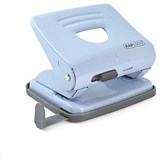 Image of Rapesco 825 2-Hole Punch / Blue / Punch capacity: 25 Sheets