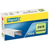 Image of Rapid 24/6mm Staples / Pack of 1000