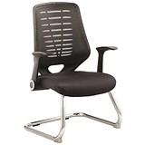 Image of Sonix Relay Visitor Chair - Black
