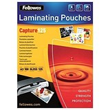 Image of Fellowes A3 Laminating Pouches / 250 Micron / Glossy / Pack of 100