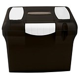 Image of File Box with Suspension Files and Index Tabs Plastic A4 Black