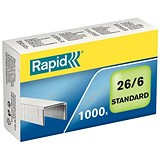 Image of Rapid 26/6mm Staples / Pack of 1000