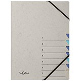 Image of Pagna Pro Elasticated Files / 7-Part / A4 / Grey & Blue / Pack of 5