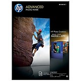 HP A4 Advanced Photo Paper Gloss / Water Resistant / 25 Sheets
