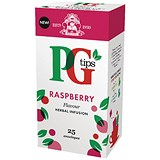 Image of PG Tips Tea Bags / Raspberry Enveloped / Pack of 25