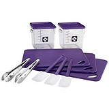 Image of 12 Piece Food Service Kit - Purple