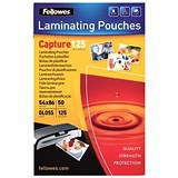 Image of Fellowes Laminating Pouches / 54x86mm / 250 Micron / Glossy / Pack of 50