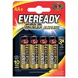 Image of Eveready Gold Alkaline Batteries AA/LR6 Ref 635267 [Pack 4]