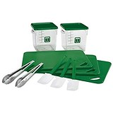 Image of 12 Piece Food Service Kit - Green