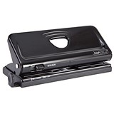 Image of Rapesco Adjustable 6-Hole Punch / Black / Punch capacity: 10 Sheets