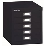 Bisley SoHo 5 drawer Cabinet - Black
