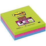 Image of Post-it Super Sticky Removable Notes / 100x100mm / Assorted Ultra / Pack of 3 x 70 Notes