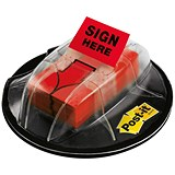 "Image of Post-it Index Desk Grip Dispenser with 125 ""Sign Here"" Flags"