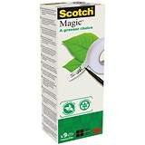 Image of Scotch Magic Tape 900 / Natural Fibre Film / 19mmx33m / Pack of 9