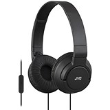 Image of JVC On Ear Headphones Built-in Mic and Remote Foldable Black Ref HA-SR185-B-E