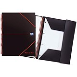 Black n' Red Plastic Wirebound Meeting Book / A4+ / Pack of 5