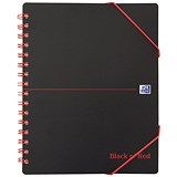 Black n' Red Plastic Wirebound Meeting Book / A5+ / Pack of 5