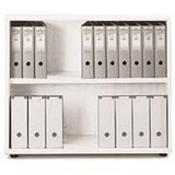 Sonix Low Bookcase / 1 Shelf / 870mm High / White