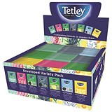 Tetley Indulgence Teabags Variety Box / String & Tag Envelopes / 7 Mixed Flavours / 90 Bags
