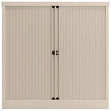 Trexus Medium Side Opening Tambour Cupboard / 1000mm High / White