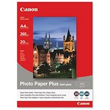 Image of Canon Photo Inkjet Paper Semi Gloss 260gsm A4 White Ref 1686B021 [20 Sheets]