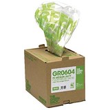 The Green Sack Refuse Sacks / Medium / 10 Litres / 457x737x965mm / Clear / Pack of 75