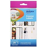 Image of Avery Freezer Labels / Removable / Pre-printed / 20 Labels