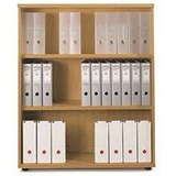 Sonix Medium Bookcase / 1 Shelf / 1200mm High / Beech