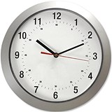 Image of Wall Clock with Coloured Case Diameter 300mm Silver