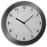 Image of Wall Clock Radio Controlled Diameter 300mm Grey