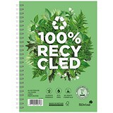 Silvine Premium Recycled Wirebound Notebook / A5 / Ruled / 120 Pages / Pack of 5