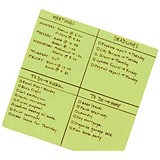 Post-it Super Sticky Dry Erase Sheets / Self-adhesive / 560x560mm / Green / 30 Sheets
