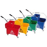 Robert Scott & Sons Microspeedy Mopping Bucket & Wringer System - Red