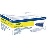 Brother TN423Y Laser Toner Cartridge High Yield Page Life 6000pp Yellow Ref TN423Y