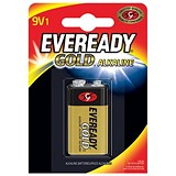 Image of Eveready Gold Alkaline Battery 9V/6LR61 Ref 638407