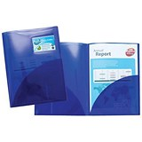 Image of Concord A4 Twinfile Presentation Folders / Blue / Pack of 5