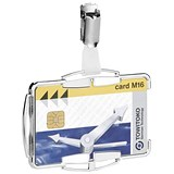 Image of Durable Security Card Holder RFID for One Card Silver Ref 890223 [Pack 10]